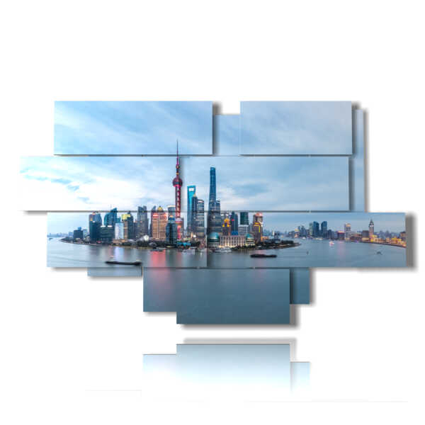 Photo Shanghai tableaux horizon