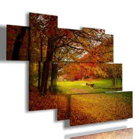 quadri di paesaggi autunnali millecolori