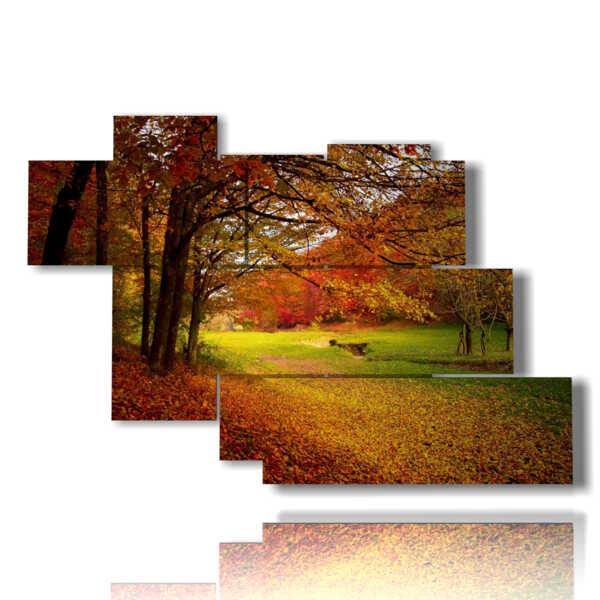 tableaux de paysages d'automne Millecolori