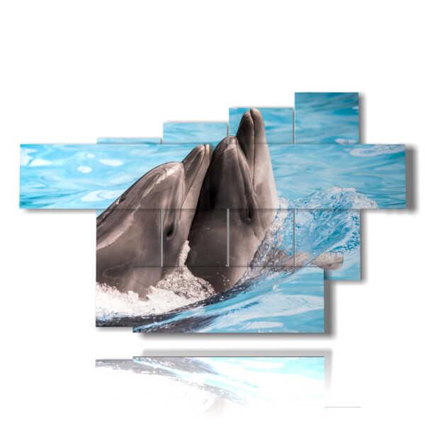quadri pesci delfini che giocano