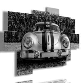painting car black and white vintage