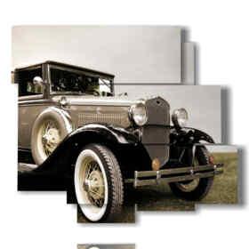 quadri con automobili d'epoca