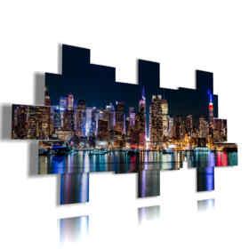 Quadro moderno - Londra 03 - Multipannello e multilivello 3D