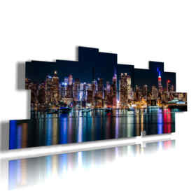 quadri skyline New York di notte