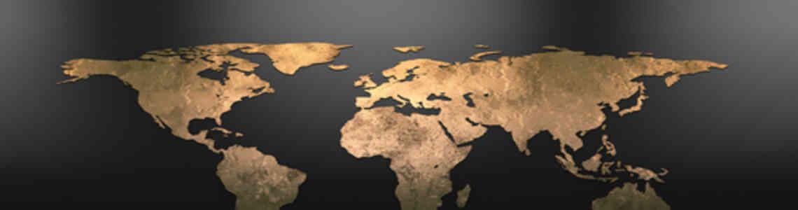 tableaux modernes carte du monde