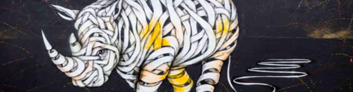 cuadros modernos animales abstractos