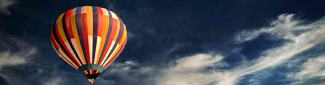moderne bilder ballonfahren