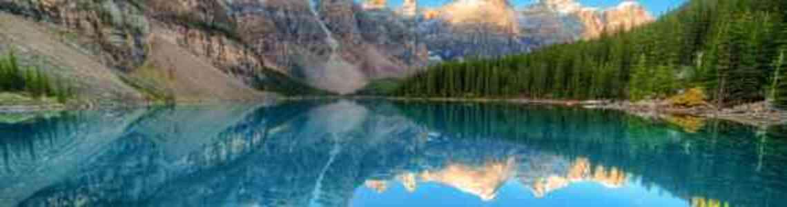 tableaux modernes lac moderne
